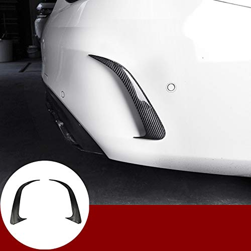 HOTRIMWORLD Carbon Fiber Style Rear Bumper Spoiler Air Vent Outlet Trim Cover for Mercedes-Benz CLA C117 CLA45 AMG 2013-2019