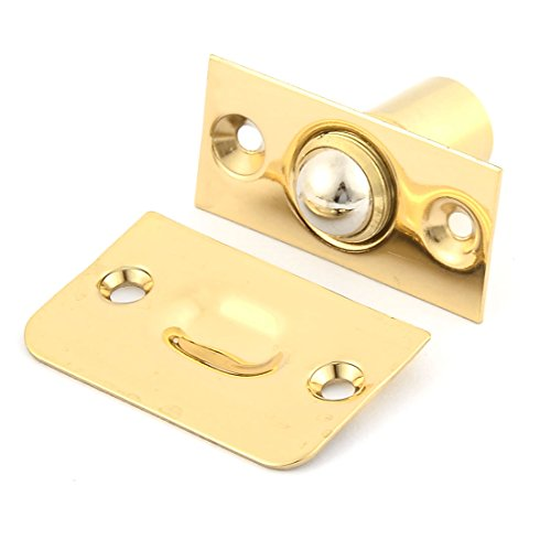 Brass Roller Catch - uxcell Door Metal Adjustable Roller Ball Catch Latch Brass Tone w Screws
