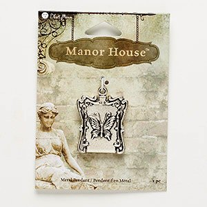 - Blue Moon Beads® Manor House Focal Pendant Fancy Rectangle Locket