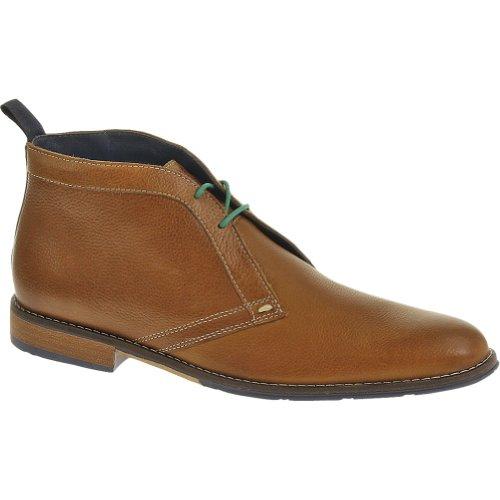 Hush Puppies Men's Style Chukka PL Tan Leather Boot 9.5 D - Medium