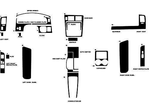 Rvinyl Rdash Dash Kit Decal Trim for Toyota Tacoma 1995-1997 - Aluminum (Brushed Silver) ()