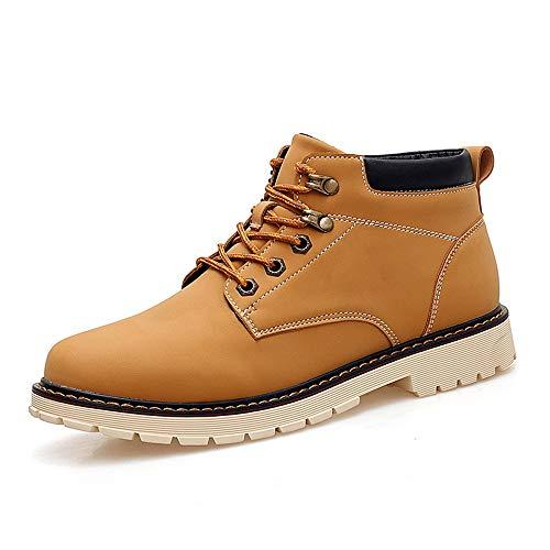 3ef736e6b 44 Yellow Cordones Sunny Trabajo Tamaño Botas Hombres Moda Eu Toe Negro Tie  Los Casual amp ...
