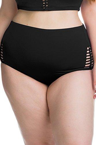 BECCA-ETC-Womens-Plus-Size-No-Strings-Attached-High-Waist-Bikini-Bottom-Black-2X