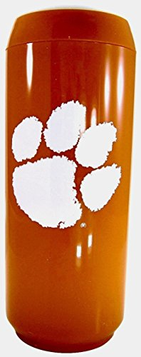 NCAA 15 Oz Insulated Double Wall Acrylic Travel Can (Clemson Tigers Orange)