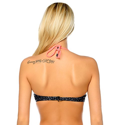 Reebok para mujer Swim Bikini Top–negro