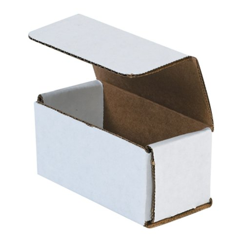 """Aviditi M422 Corrugated Mailer, 4"""" Length x 2"""" Width x 2"""" Height, Oyster White (Bundle of 50)"""