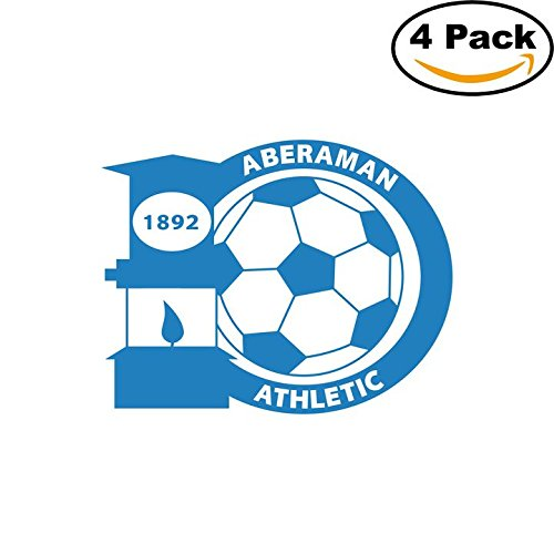 Aberaman Athletic FC Soccer Football FC Decal Logo 4 Stickers 4X4