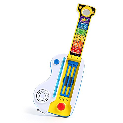 41RRGNOgKhL - Baby Einstein Flip & Riff Keytar Musical Guitar and Piano Toddler Toy with Lights and Melodies, Ages 12 months and up