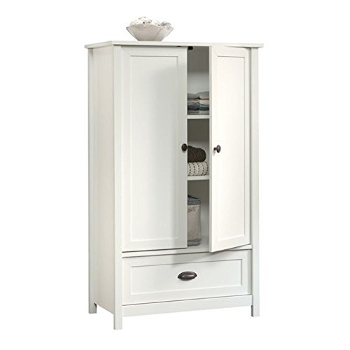 Pemberly Row Armoire in Soft White