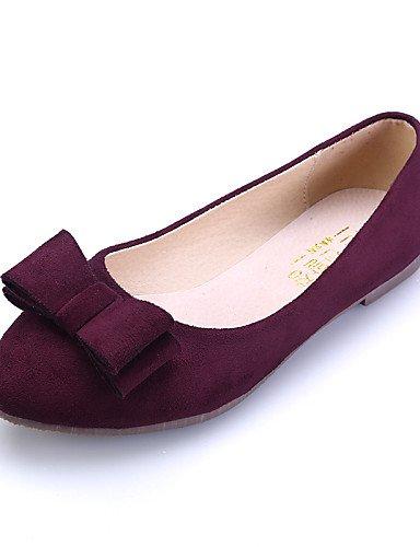 pink 5 uk3 PDX negro casual plano 5 azul eu36 mujer Flats cn35 de rosa talón comodidad de vestido Toe cerrado us5 zapatos Toe Burgundy señaló ante Y1gHWZr16