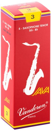 Vandoren SR273R Tenor Sax JAVA Red Reeds Strength 3; Box of 5