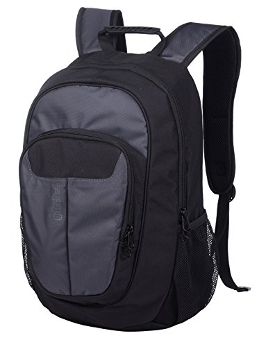 Travel Computer School Laptop Backpack - Protective Water Resistant Padded Bag for School, Work, Business, Hiking, Top Quality and Durable Computer Case for Men and Women(Gray/Black) ()