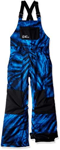 Laminate Bib - Volcom Boys' Big Barkley 2 Layer Shell Bib Snow Overall, Blue tie/dye, Small