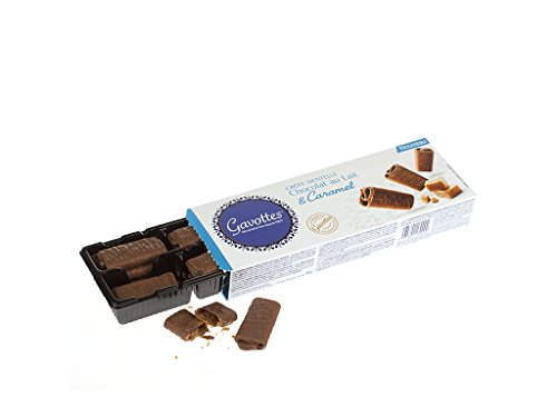 Gavottes Milk Chocolate with Caramel Crepe Dentelle Cookies 90 Gram Box