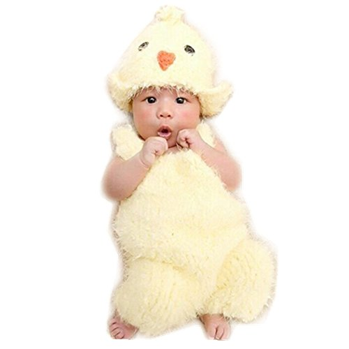 Newborn Monthly Baby Photo Props Chick Hat Rompers for Boy Girls Photography (Chick Costume)