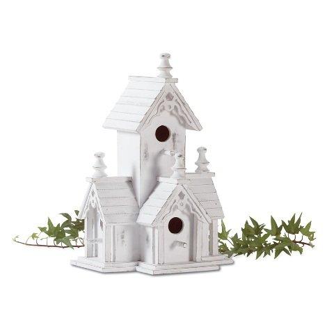 Eastwind Gifts 32347 Victorian Garden Bird (32347 Wood Distressed Victorian Birdhouse)
