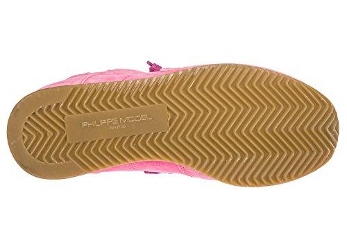 Model Tropez Nuove Philippe Camoscio Sneakers Scarpe Rosa Donna ZqRap6w