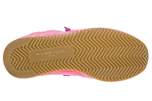 En Model Femme Sneakers Chaussures Philippe Baskets Daim Tropez Rose wgqa1f7