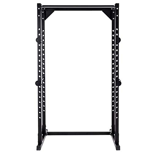 GYMAX Adjustable Power Rack, Multi-Grip Power Rack Pull/Chin Up Bars Squat Cage Heavy Duty Power Rack for Home Gym Athletics Fitness