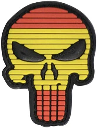 Parche de Bandera de España Punisher Airsoft Paintball PVC Moral Team Patch: Amazon.es: Deportes y aire libre