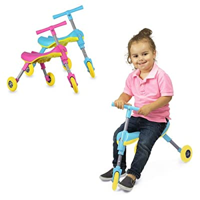 Fly Bike® Foldable Indoor/Outdoor Toddlers Glide Tricycle - No Assembly Required