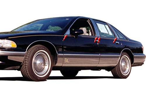 QAA FITS Caprice 1991-1997 Chevrolet (8 Pc: Stainless Steel Pillar Post Trim Kit w/rr Pillar and ff Triangle, 4-Door) PP33175 ()