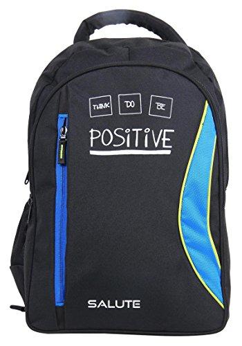 Salute Poliéster 34 Ltr y viajes Colegio Escuela portátil mochila bolsa Negro y azul