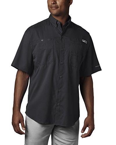 Columbia Mens Tamiami II Short Sleeve Fishing Shirt (Black, Small)