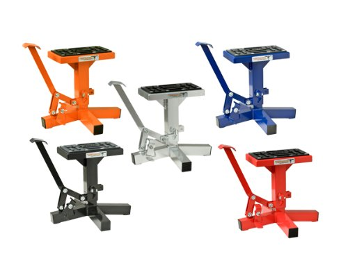 Pit Posse Off Road Universal Motorcycle Lift Stand for Bike Dirtbike Motocross Honda Kawasaki Suzuki Yamaha KTM - Heavy Duty Aluminum - 5 Year Warranty- Motorcycle Accessories and Jacks (Blue) ()