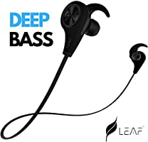 Leaf Ear Wireless Bluetooth Earphones with Mic and Deep Bass