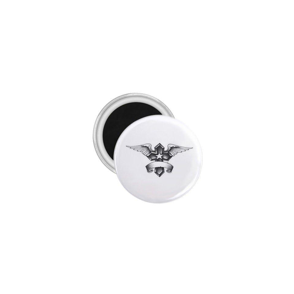 Tattoo Cross Angel Art Fridge Souvenir Magnet 2.25