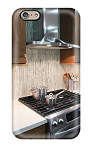 High Quality Durable Protection Case For Iphone 6 Silver Stove In Dark Kitchen