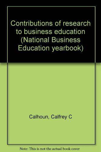 Contributions of research to business education (National Business Education yearbook)