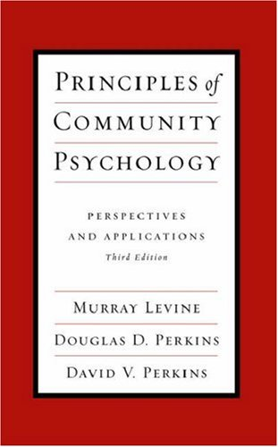 Book cover from Principles of Community Psychology: Perspectives and Applications by Murray Levine