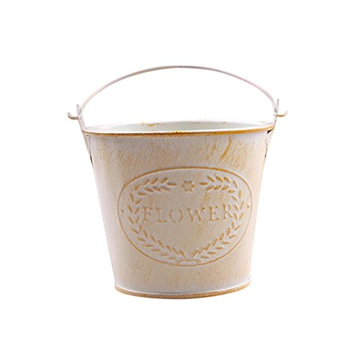 Storage Box,Clearance!AmyDong Retro Style Mini Tin Bucket Flower Pot Wooden Succulent Plants Square Flower Pot Garden Handmade Planting (Yellow) (Lid Bucket With Tin)