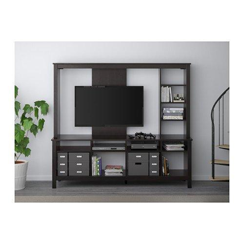 huge discount efcdf c8ce5 Amazon.com: Ikea TV storage unit, black-brown 2214.22017.184 ...