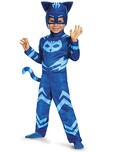 Catboy Classic Toddler PJ Masks Costume, Medium/3T-4T ()