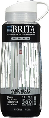 Brita Hard Sided Water Filter Bottle, 34 Ounce