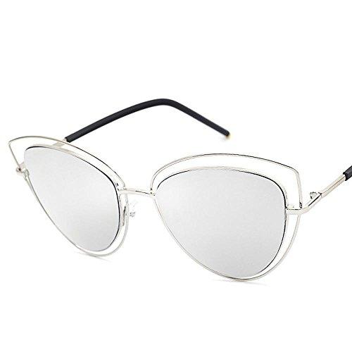 Aoligei Lentilles de couleur océan sans cadre fashion lady Metal lunettes de soleil mode européenne ana4A