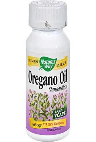 Nature's Way Standardized Oregano Oil, 60 Vegetarian Capsules