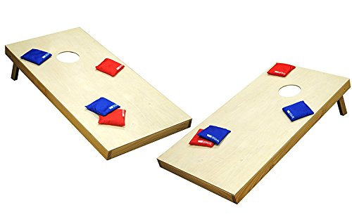 Wild Sports 2'x4'x2 Solid Wood Premium Cornhole Set