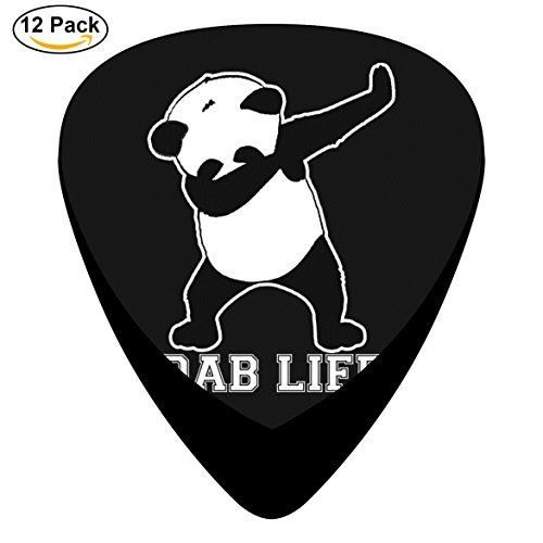 Guitar Picks Panda Dab Life 12-Pack Celluloid Plectrums for Guitar Bass (Five Nights At Freddys Guitar)