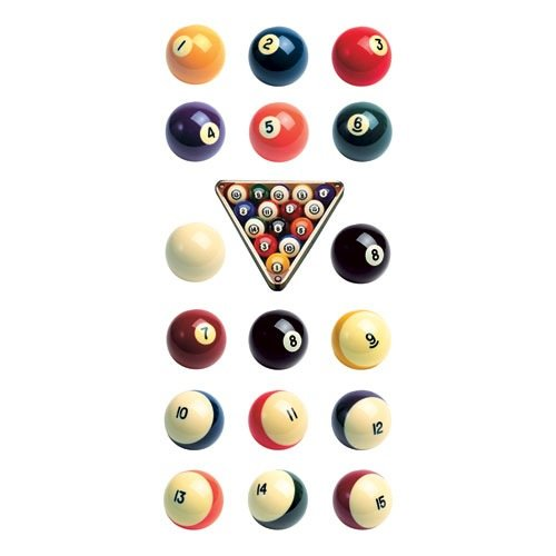 Paper House ST-2202E 6-Pack Photo Real Stickypix Stickers, 2-Inch by 4-Inch, Billiards