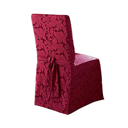 SureFit Scroll  - Dining Room Chair Slipcover  - Burgundy (Chair Covers Kohls)