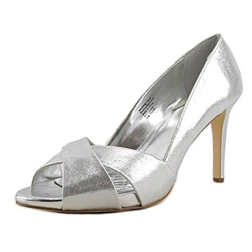 Alfani Womens Loralie Open Toe Classic Pumps, Silver, Size 6.0