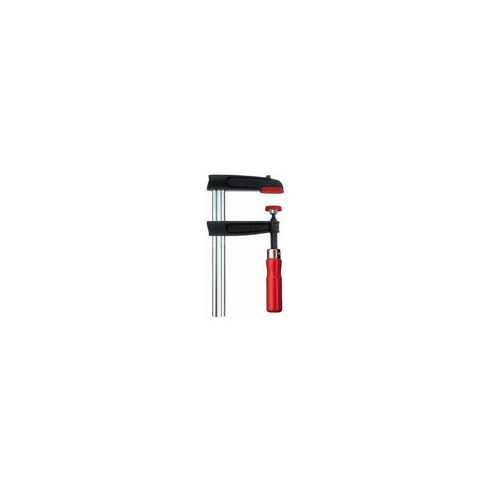 Bessey TPN25B8BE Screw Clamp Tpn-Be 9.84In/3.15In of Cast-IRON, Black/Red/Silver
