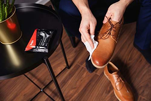 Kaps Lingettes humides de Nettoyage et de Polissage pour Chaussures de, Lingettes jetables d'entretien des Chaussures… 4