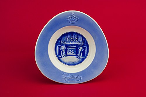 Small Blue Unique Carlsberg Porcelain Aluminia Faience Serving DISH Vintage Mid 20th Century Danish LS