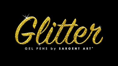 Sargent Art 96 Assorted Glitter Gel Pen Bulk Pack, 6 Colors