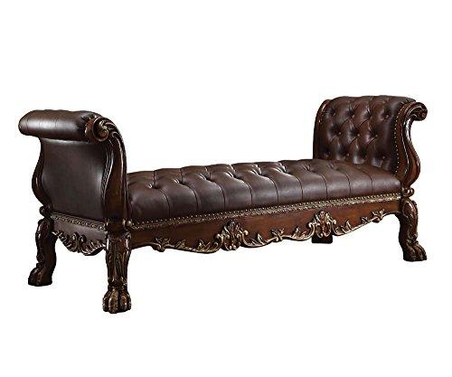 ACME Furniture 96486 Dresden Bench, PU/Cherry Oak